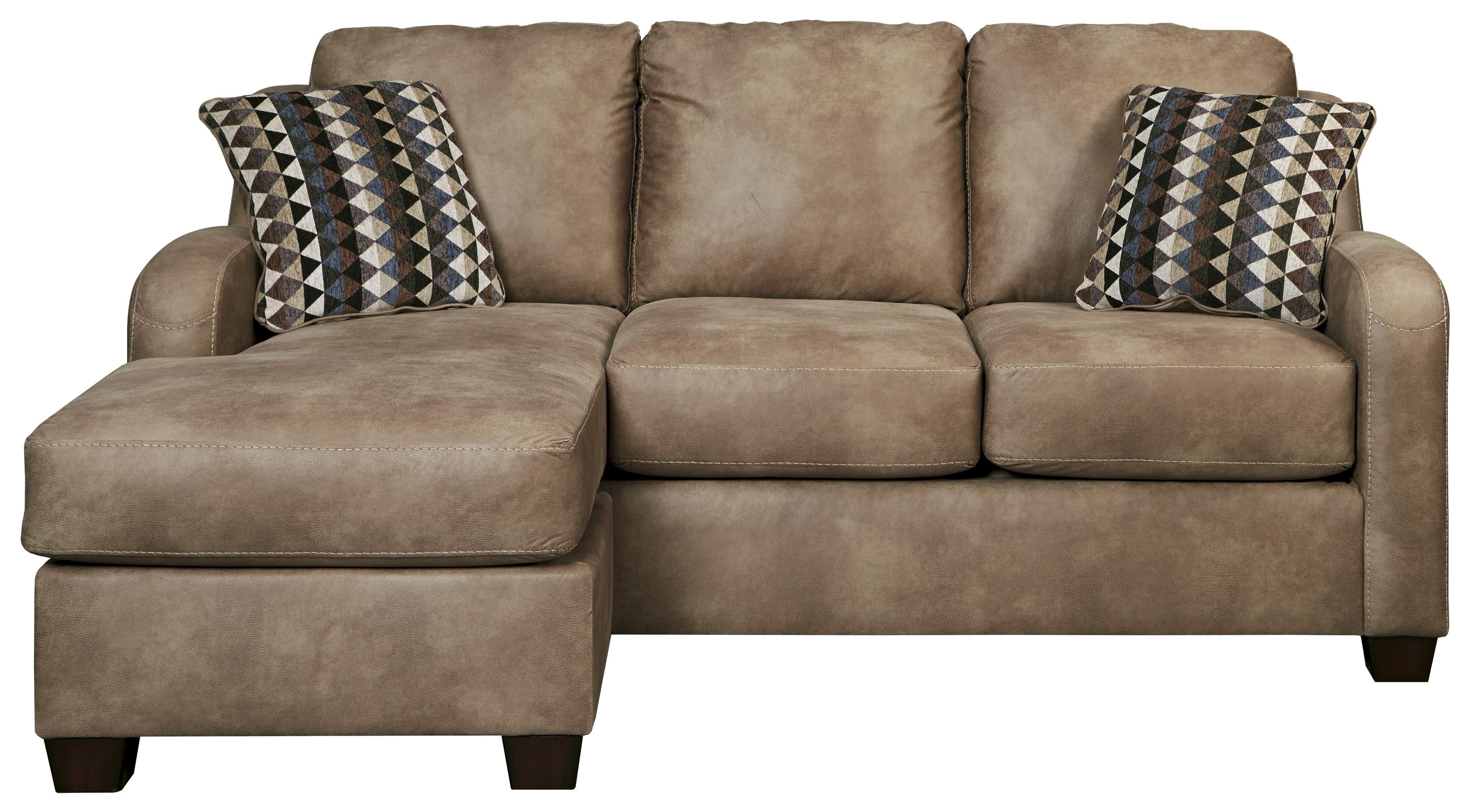 Furniture: Benchcraft Alturo Contemporary Faux Leather Couches Throughout Newest Chaise Couches (View 7 of 15)