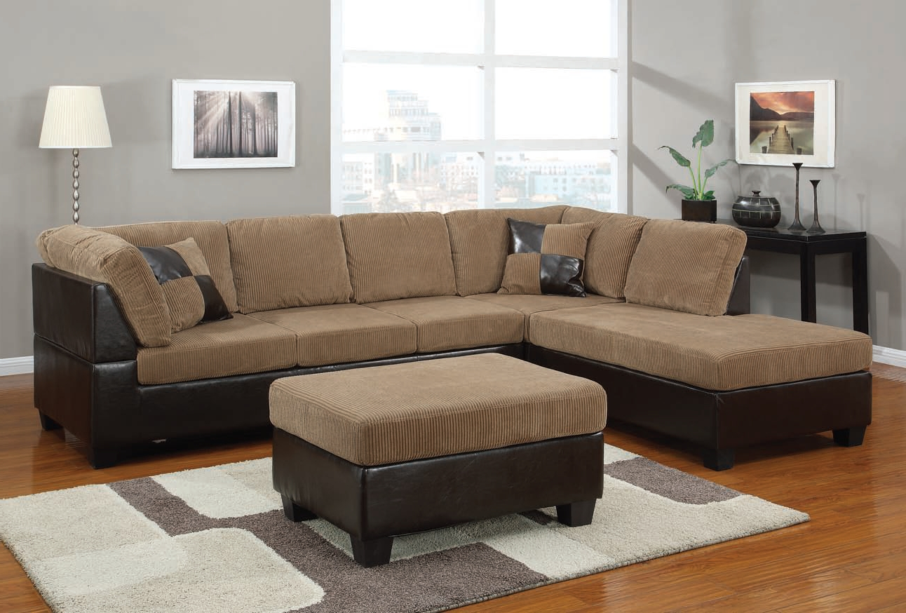 Furniture: Charming Sectionals Sofas For Living Room Furniture With Regard To Most Recently Released Brown Sectionals With Chaise (View 6 of 15)