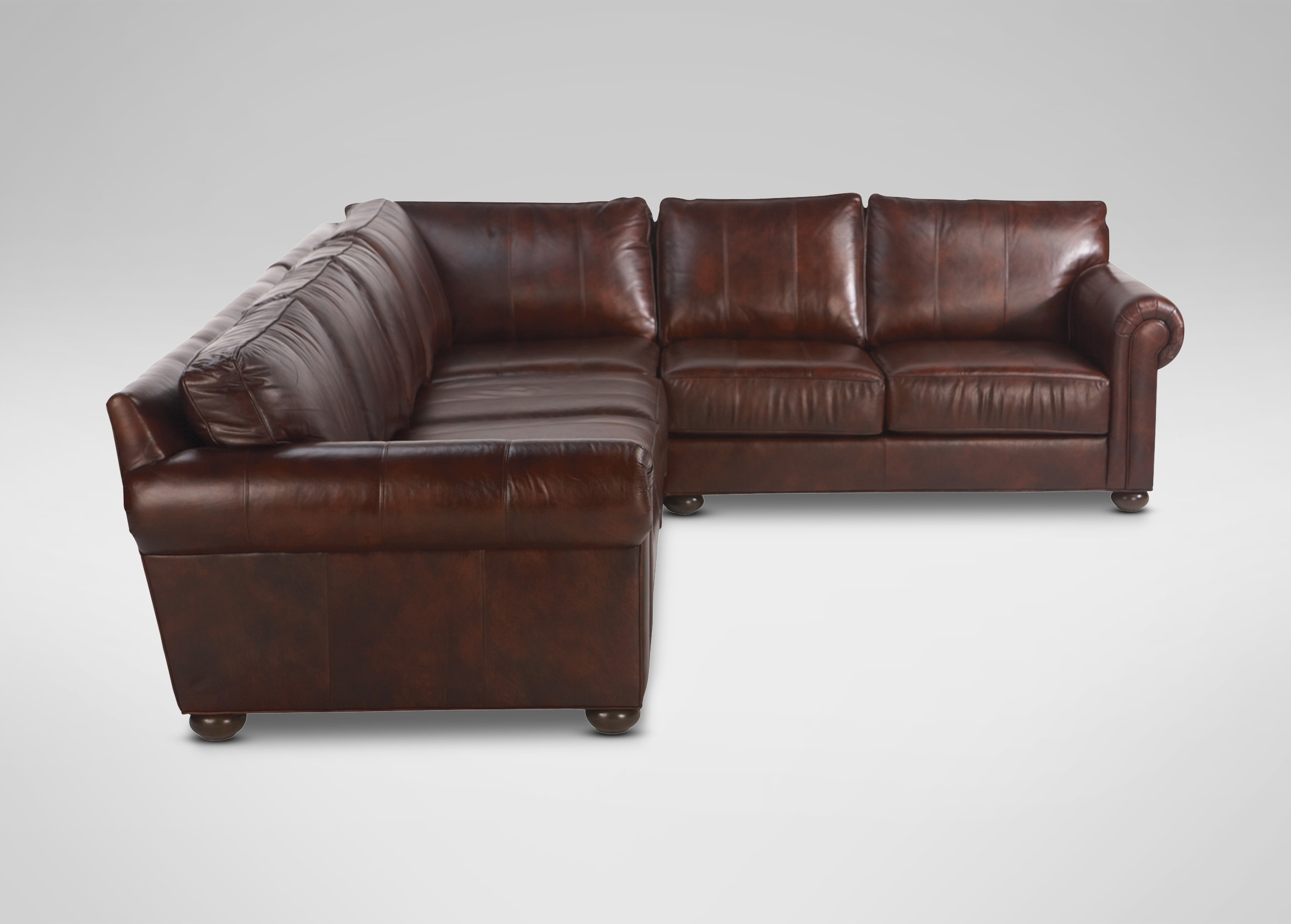 Furniture : Claudia Ii Leather Sofa And Loveseat Macys Leather For Fashionable Sectional Sofas At Barrie (View 4 of 15)