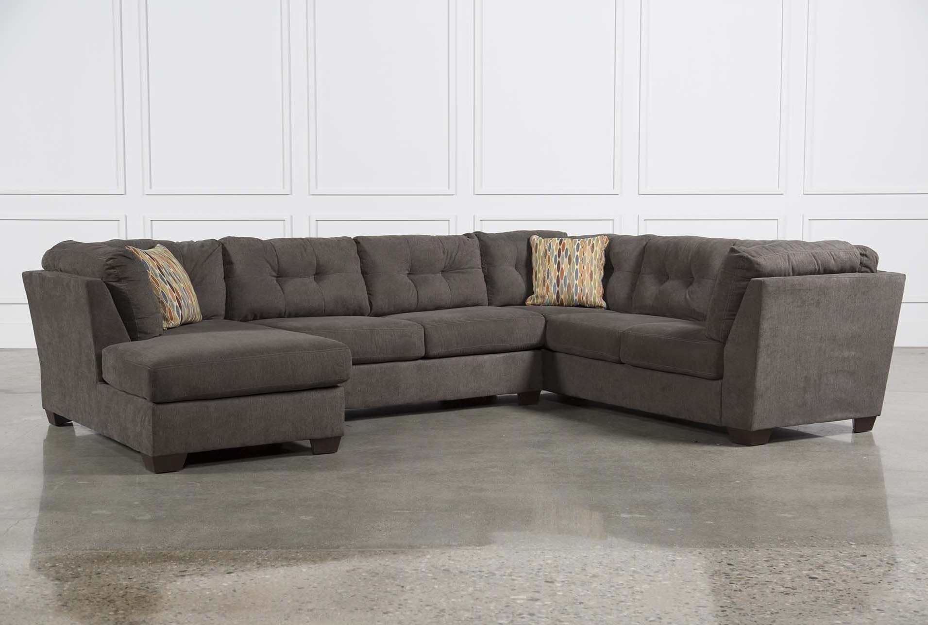 Furniture: Comfortable Deep Seat Sectional For Your Living Room Throughout Most Recently Released Grey Sectionals With Chaise (View 6 of 15)
