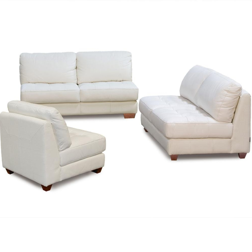 Furniture: Cool Armless Loveseat Design Ideas With Diamond Sofa Within Well Known Armless Sectional Sofas (View 7 of 15)
