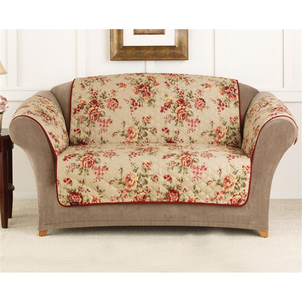 Furniture : Covers For Sofas And Couch Sure Fit Lexington Floral For 2018 Chintz Floral Sofas (View 5 of 15)