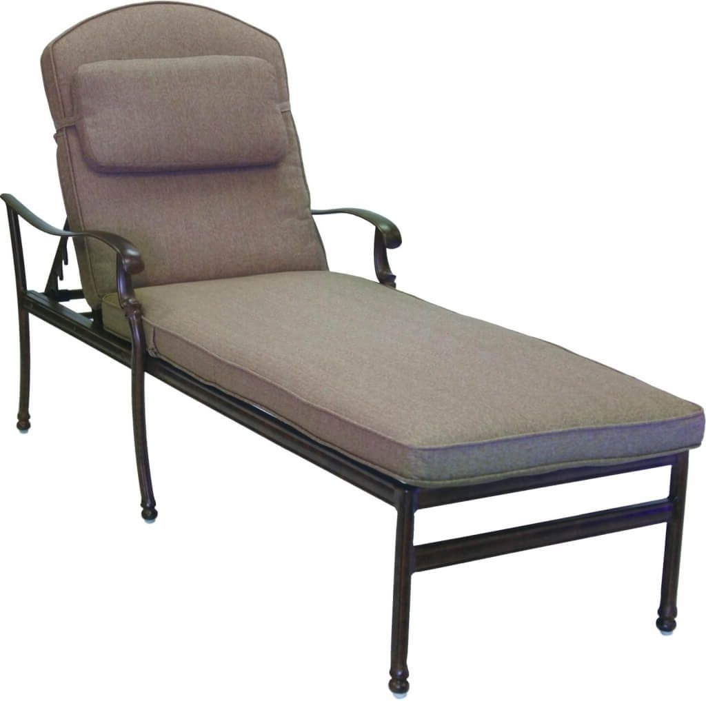 Furniture: Dazzling Cast Aluminum Extra Long Outdoor Chaise Lounge With Most Up To Date Outdoor Cast Aluminum Chaise Lounge Chairs (View 14 of 15)