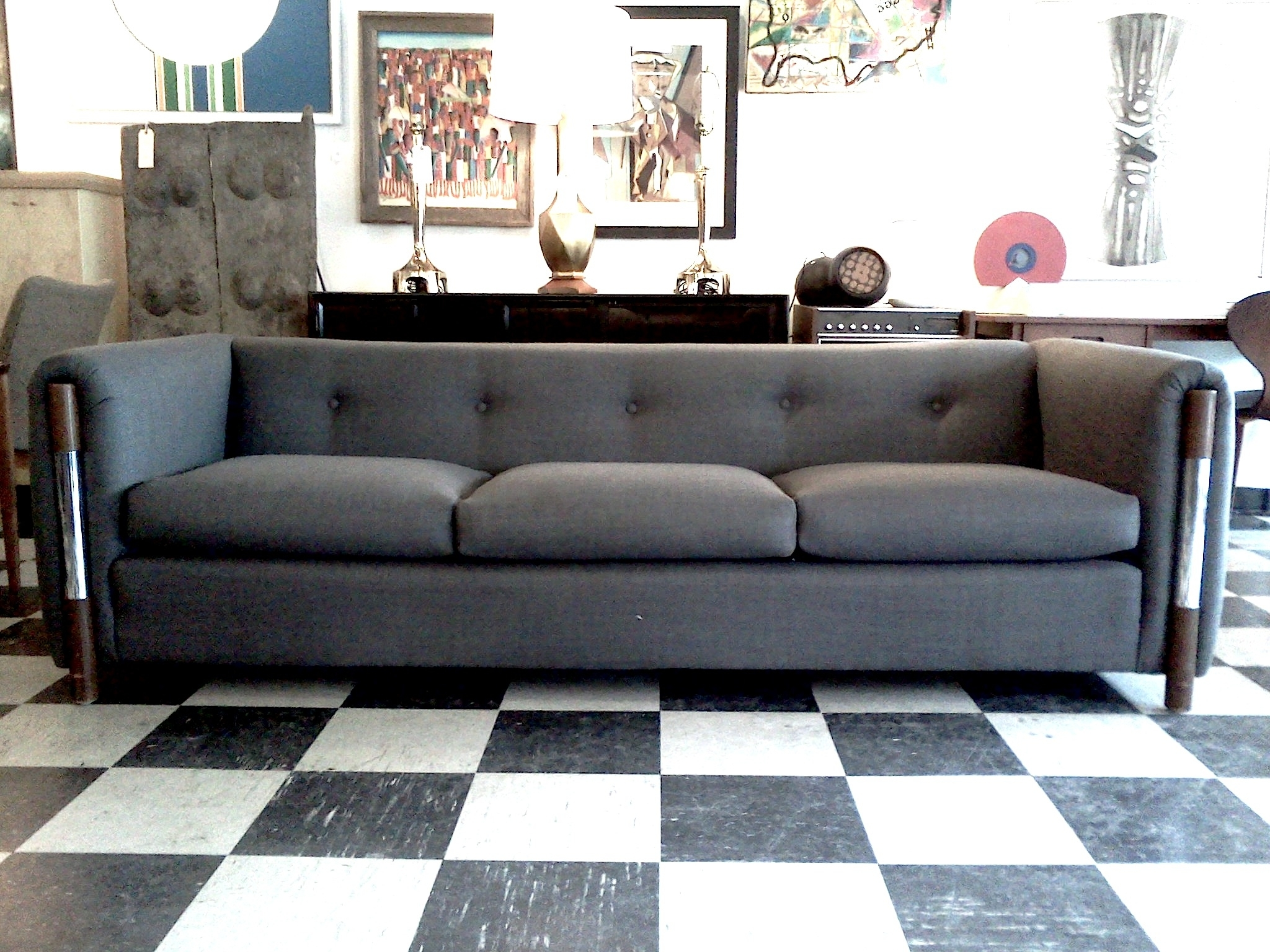 Furniture : Distressed Tufted Leather Sofa Living Spaces Belleview In Popular Quincy Il Sectional Sofas (View 2 of 15)