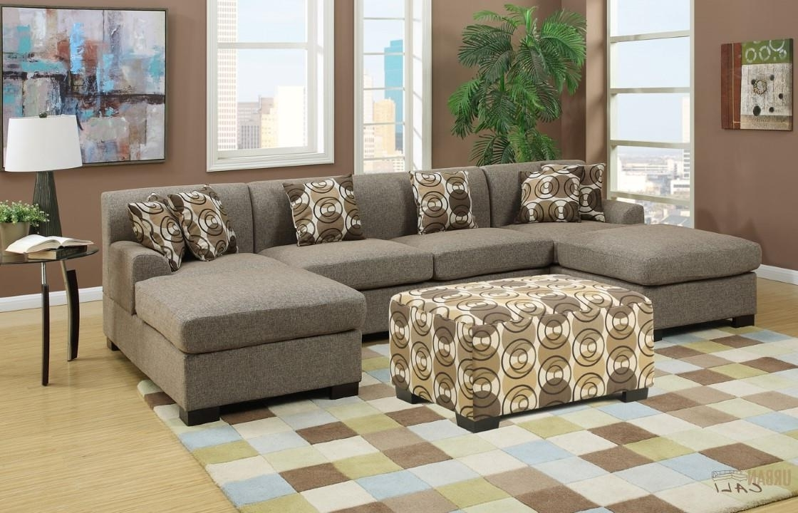 Furniture: Hayward Sandstone Small U Shaped Sectional Sofa Set For Latest Deep U Shaped Sectionals (View 8 of 15)
