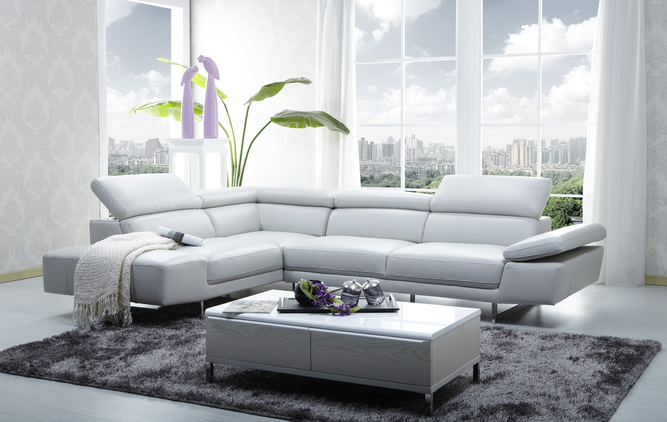 Furniture : Paris 1 White Tufted Leather Sectional Sofa Tufted For Recent Kijiji Montreal Sectional Sofas (View 7 of 15)