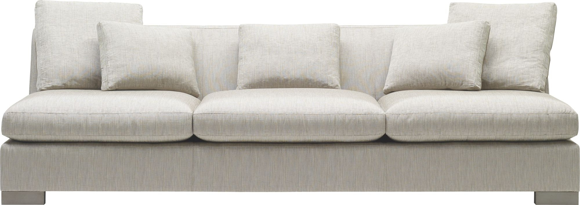 Furniture: Small Armless Sectional Sofa (View 8 of 15)