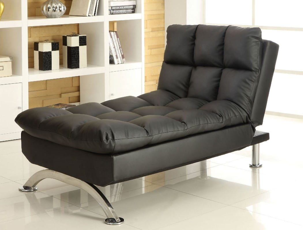 Futon Chaise Lounges For Newest Orren Ellis Javier Futon Chaise Lounge & Reviews (View 13 of 15)