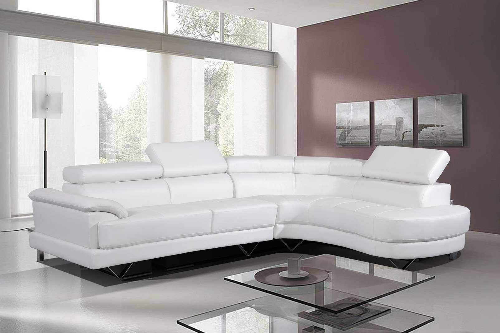 Featured Photo of White Leather Corner Sofas