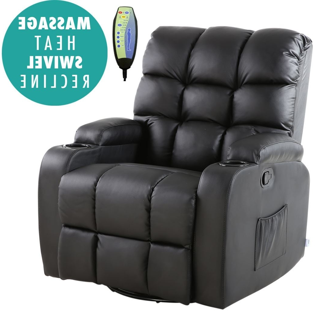 Gaming Sofa Chairs In Preferred Regal Leather Recliner Chair Rocking Massage Swivel Heated Gaming (View 5 of 15)