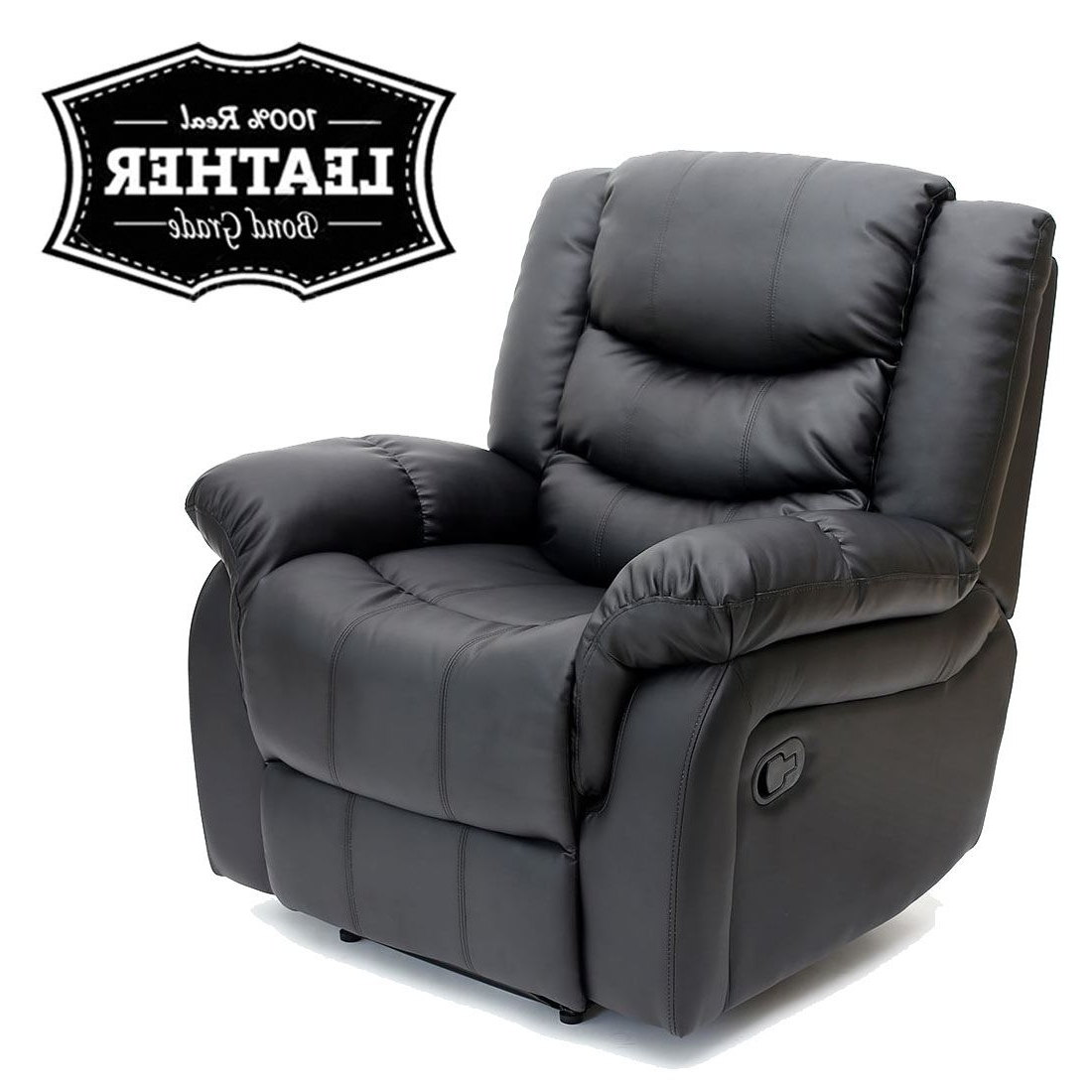 Gaming Sofa Chairs Pertaining To Popular Seattle Leather Recliner Armchair Sofa Home Lounge Chair Reclining (View 7 of 15)