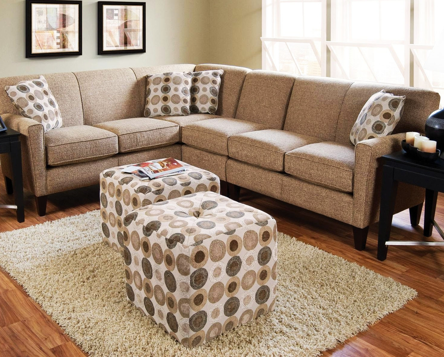 Genuine Leather Sectional Sectionals Sofas Top Grain Leather Sofa In Trendy Small Sectionals With Chaise (View 5 of 15)
