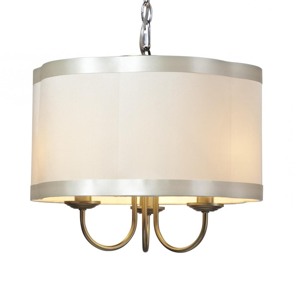 Glass Shade Drum Chandelier – Chandelier Designs In Most Current Drum Lamp Shades For Chandeliers (View 5 of 15)