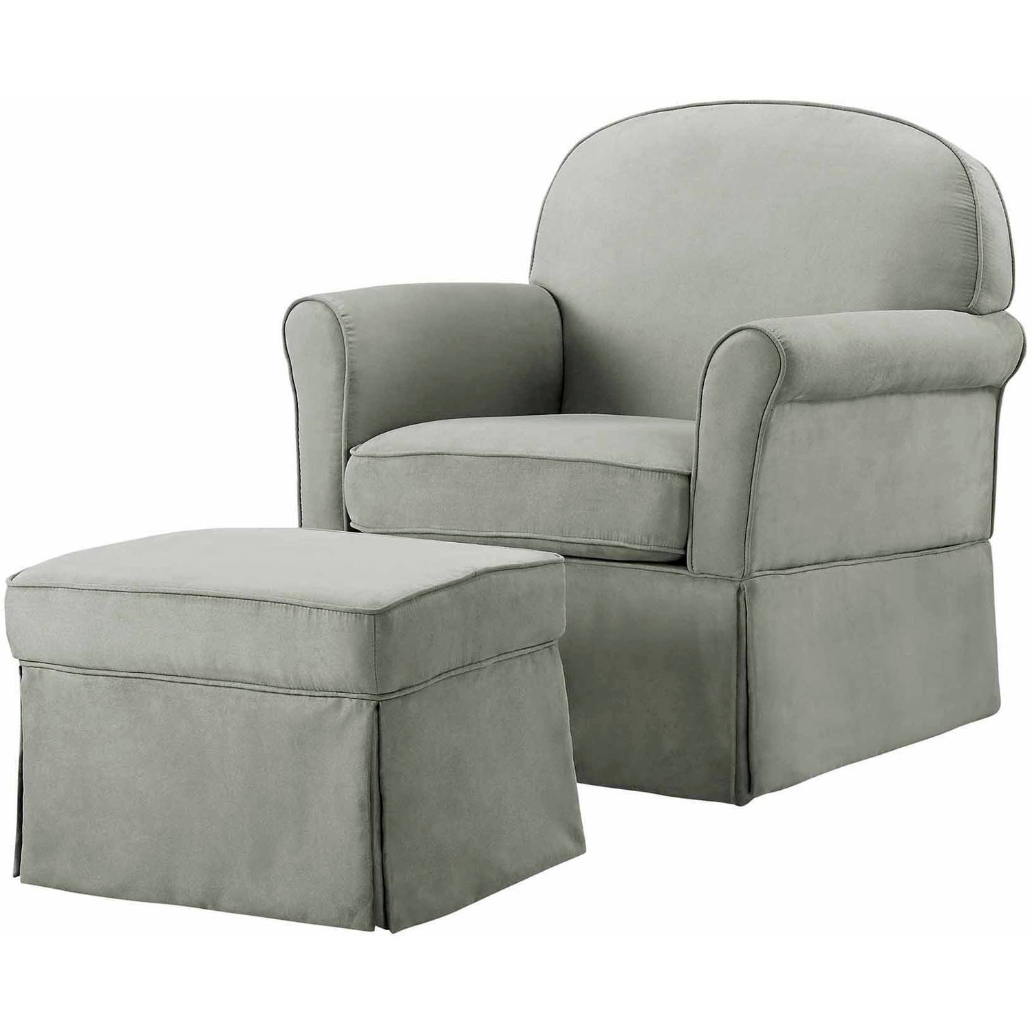 Gliders With Ottoman With Best And Newest Baby Relax Evan Swivel Glider And Ottoman Gray – Walmart (View 6 of 15)
