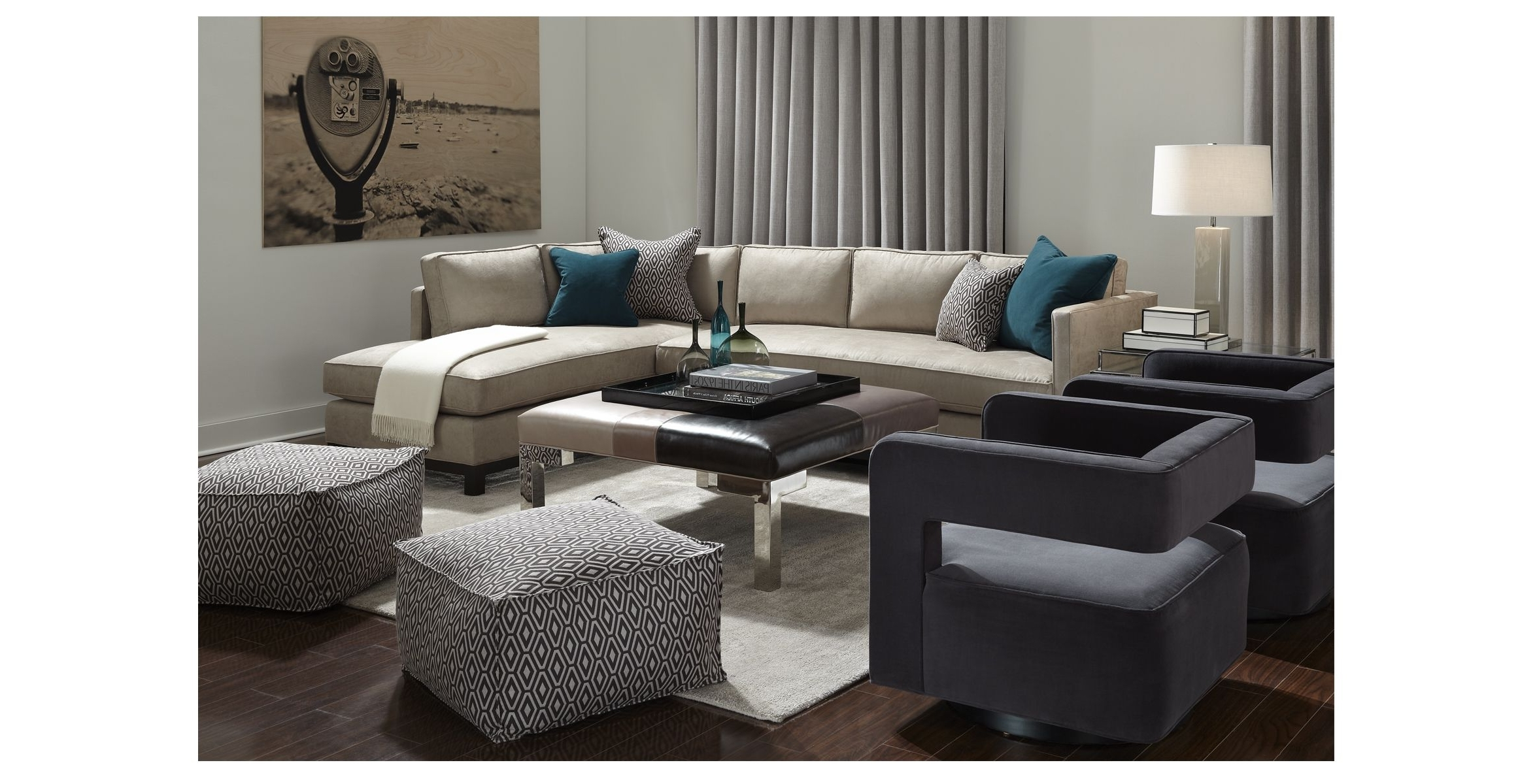 Gold Sectional Sofas With Regard To 2018 Clifton Collection – Mitchell Gold + Bob Williams – Sectional (View 10 of 15)