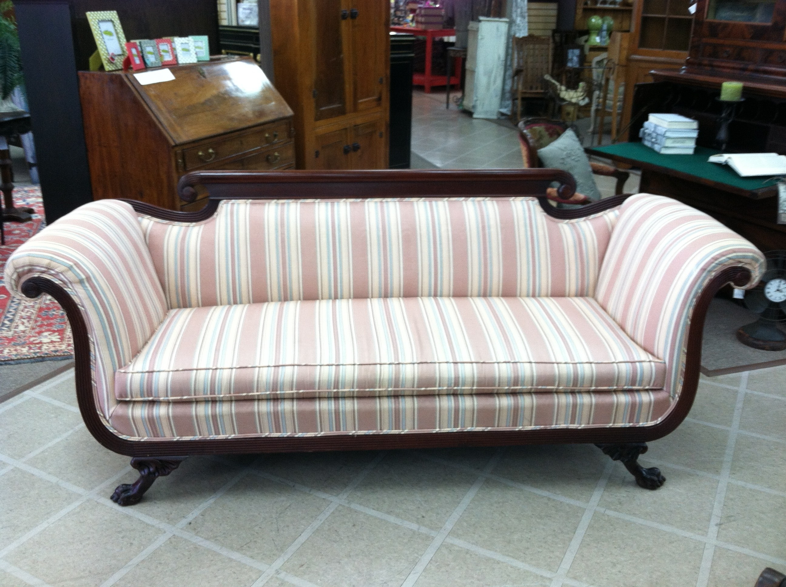 Gorgeous Antique Duncan Phyfe Style Sofa (Nicely Carved) Circa For Well Known 1930S Sofas (View 14 of 15)