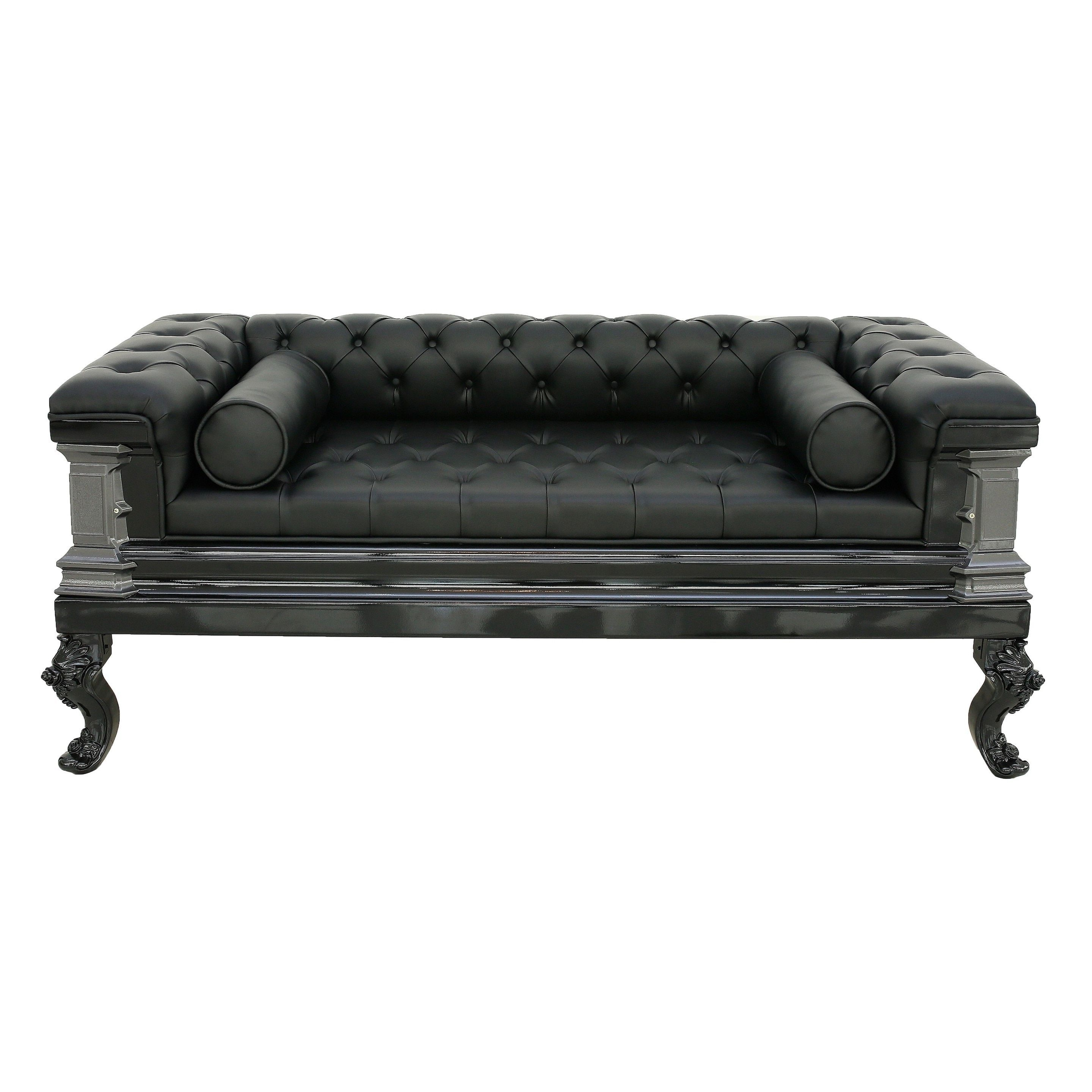 Gothic, Black Leather Sofas With Regard To Well Known Gothic Sofas (View 10 of 15)