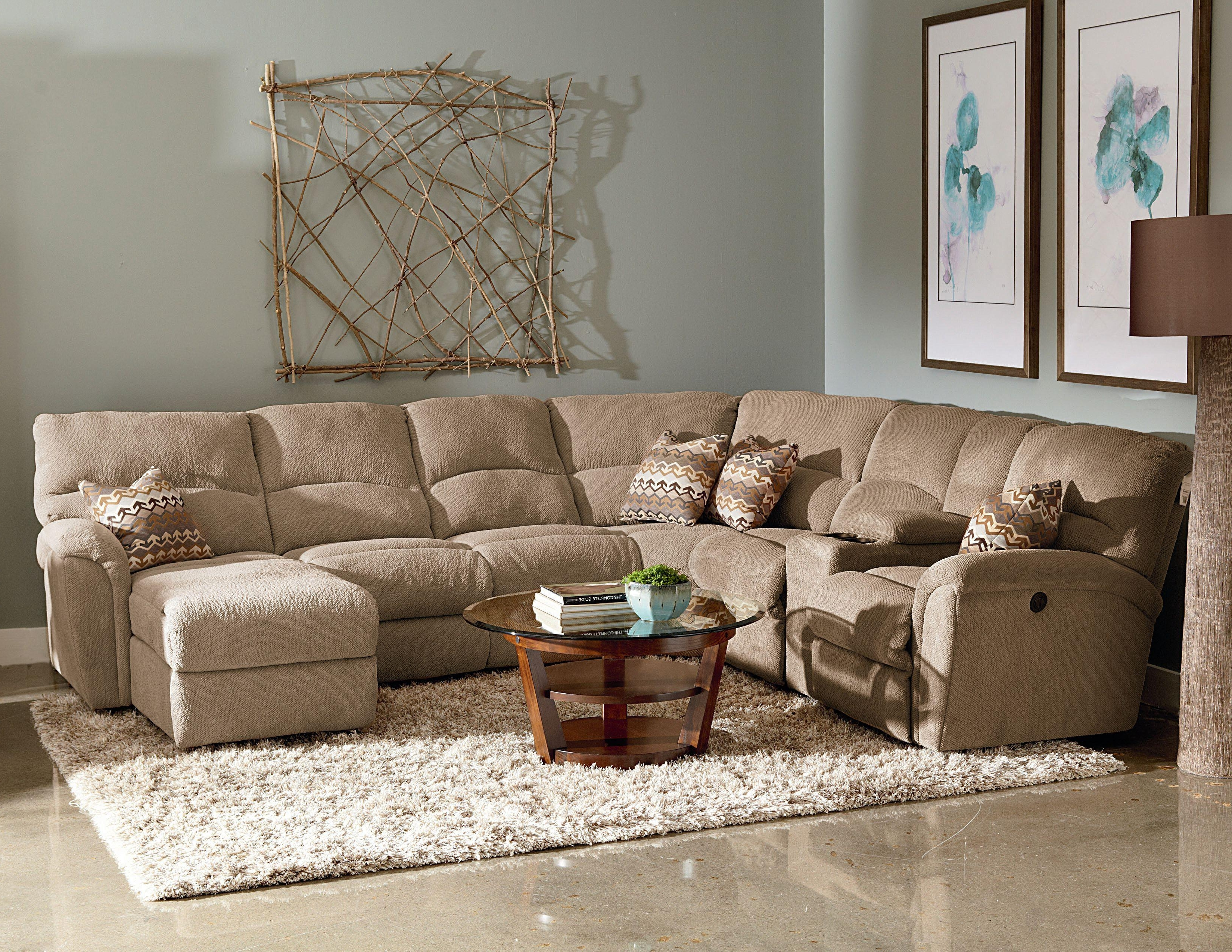 Grand Furniture Sectional Sofas With Regard To 2017 Lane Grand Torino Casual Four Piece Power Sectional Sofa W/ Full (View 3 of 15)