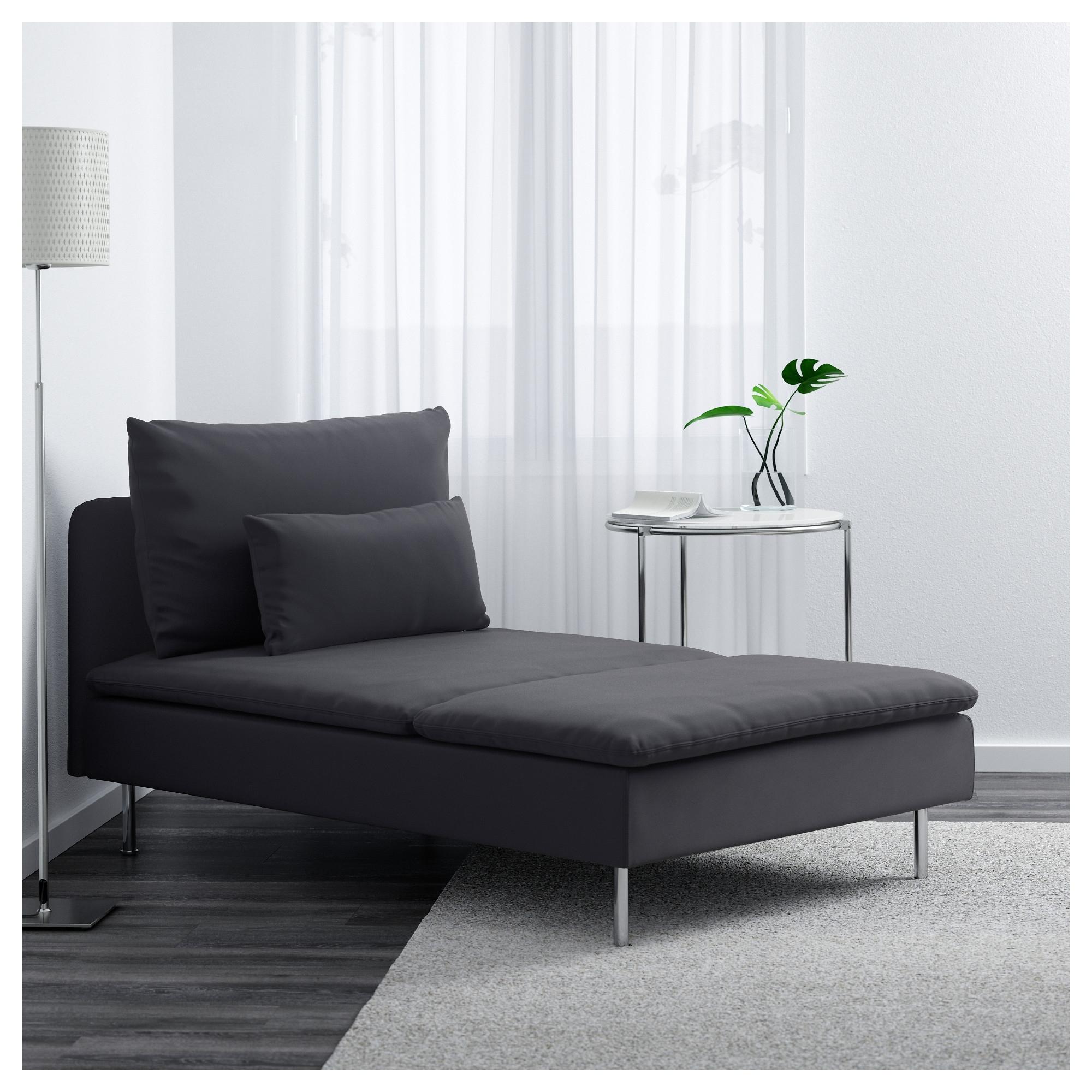Gray Chaises In 2017 Söderhamn Chaise – Samsta Dark Gray – Ikea (View 8 of 15)