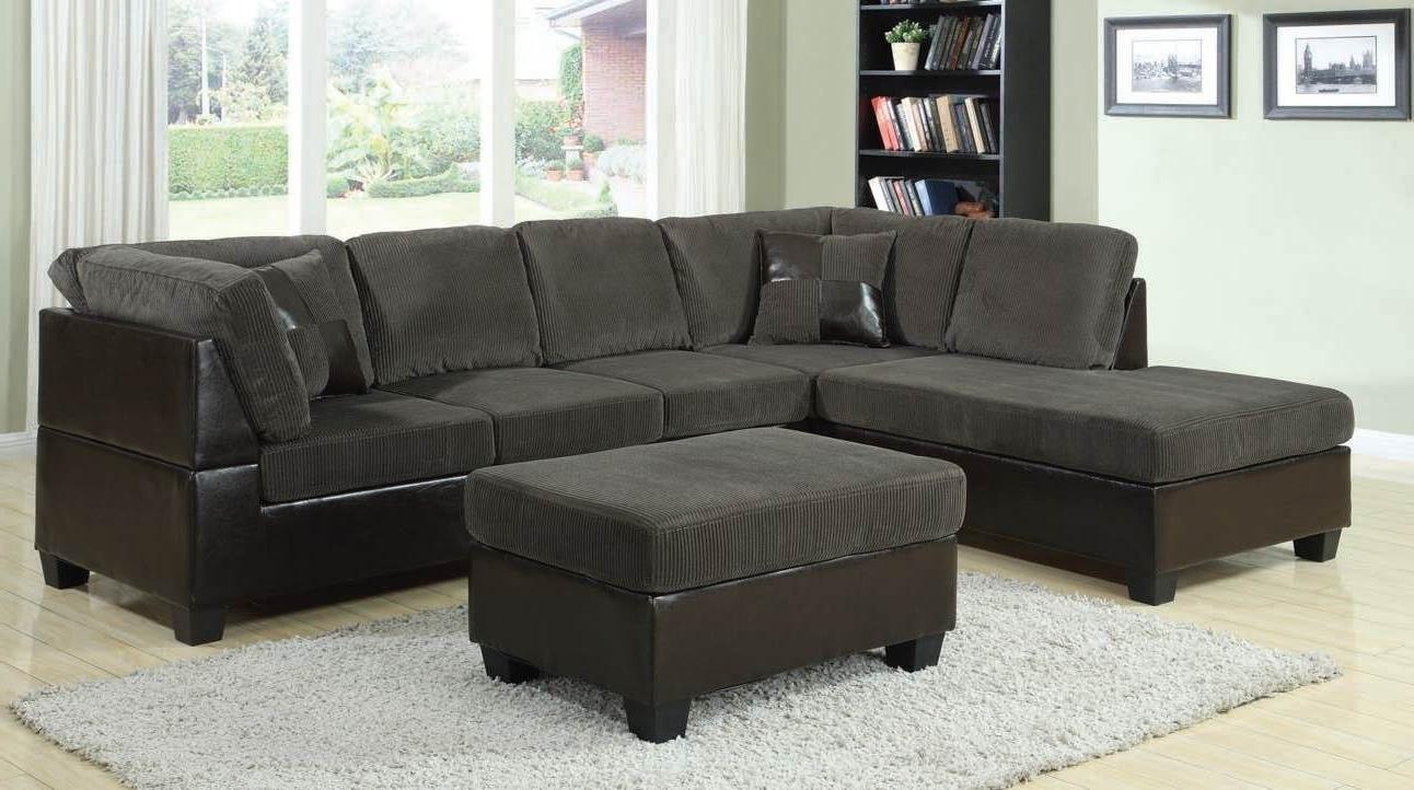 Gray Corduroy Sofa (View 10 of 15)