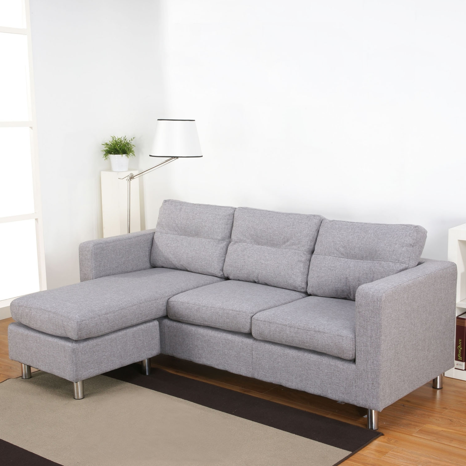 Gray Couches With Chaise For Popular Gray Sectional Sofas With Chaise (View 3 of 15)