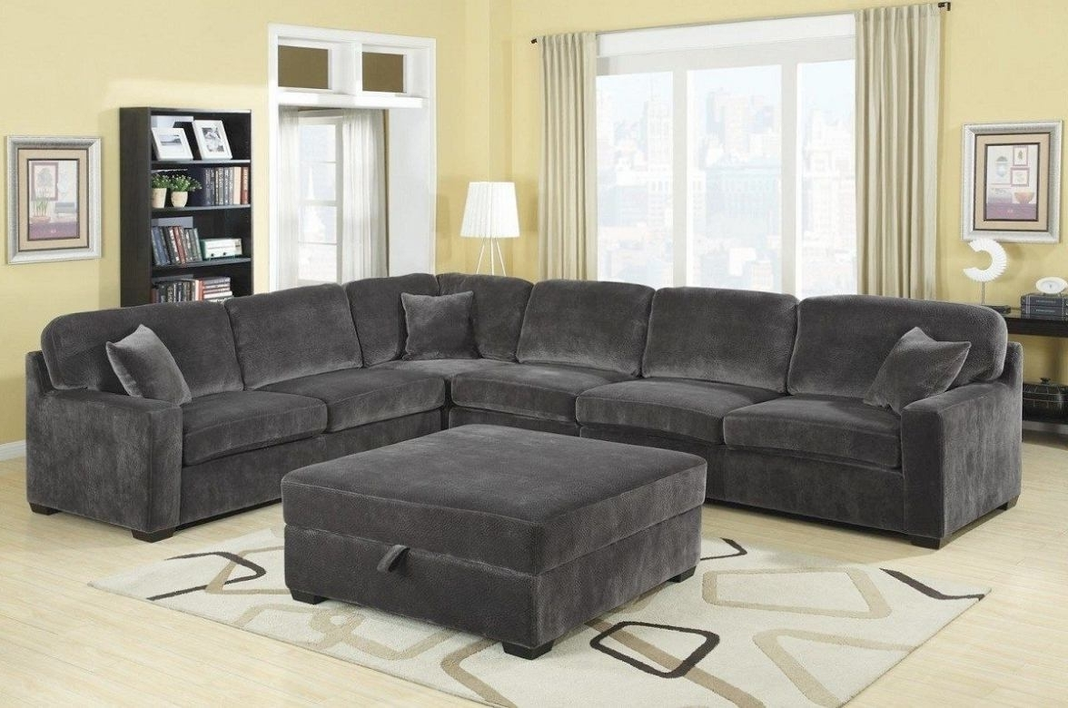 Gray Sectional Sofas With Chaise Pertaining To Fashionable Stunning Charcoal Gray Sectional Sofa With Chaise Lounge 34 About (View 6 of 15)