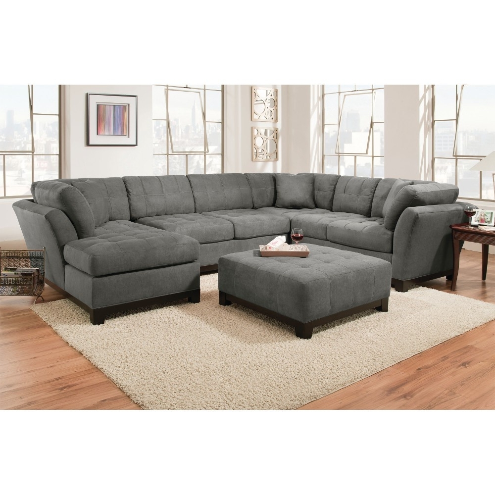 Gray Sectional Sofas With Chaise Regarding Trendy Manhattan Sectional – Sofa, Loveseat & Rsf Chaise – Slate (View 7 of 15)
