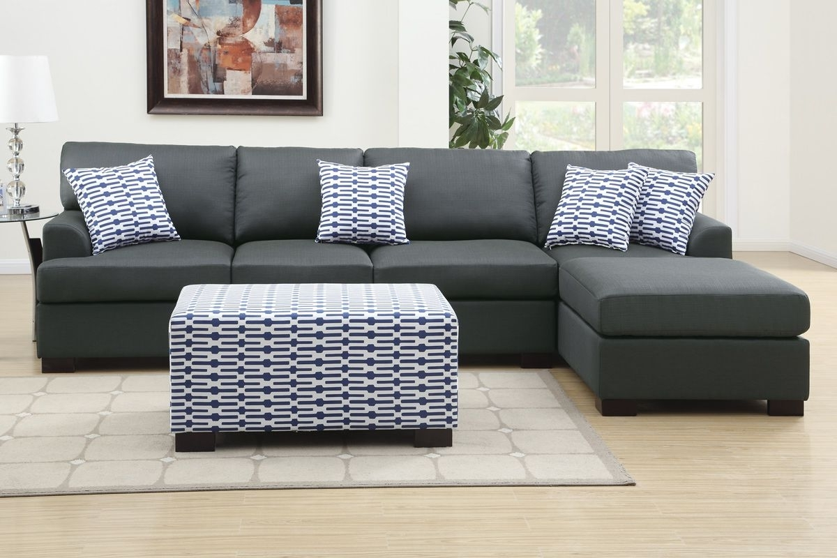 Gray Sectionals With Chaise Within Well Known Cool Dark Grey Sectional Couches , Best Dark Grey Sectional (View 5 of 15)