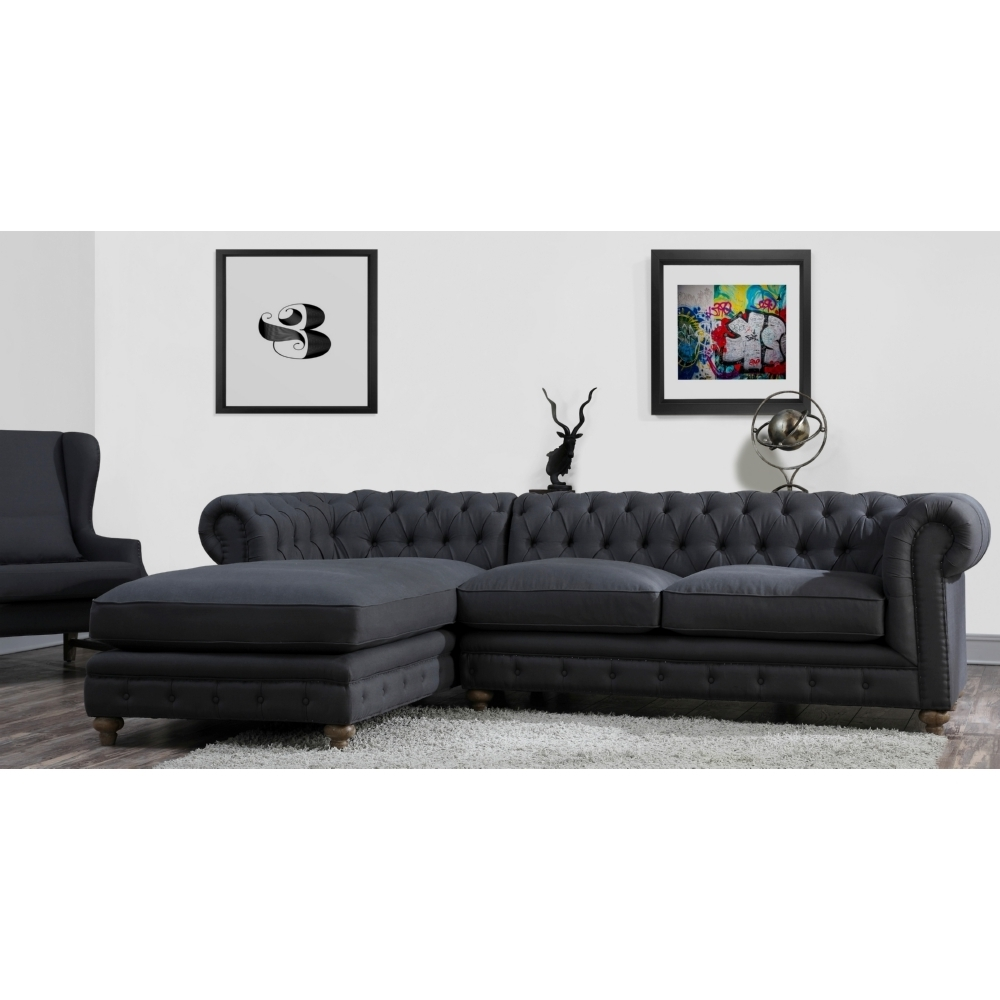 Gray Tufted For Preferred Tufted Sectionals With Chaise (View 15 of 15)