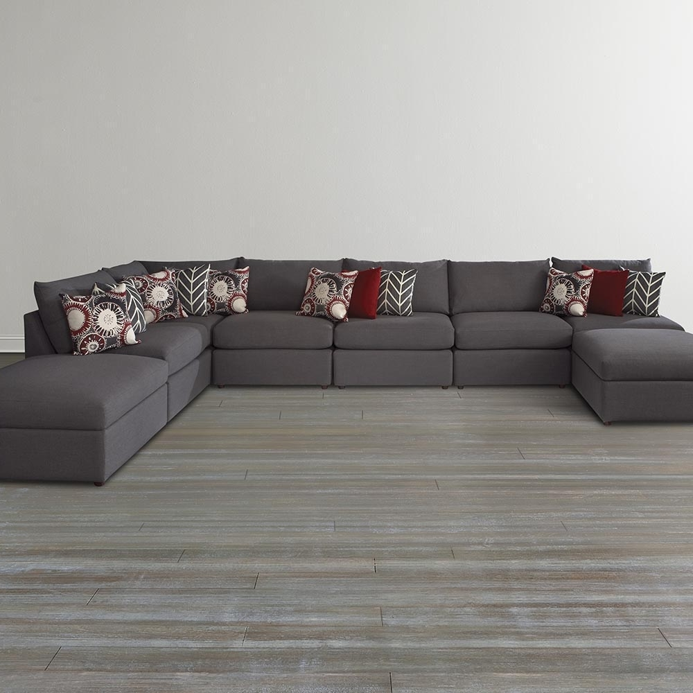 Gray U Shaped Sectional Sofa — Fabrizio Design : Fashionable U Inside Favorite Gray U Shaped Sectionals (View 8 of 15)