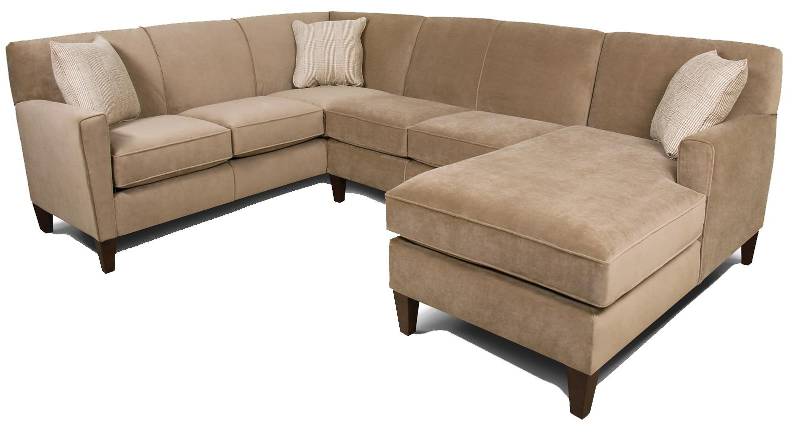 Green Bay Wi Sectional Sofas in Well-known England Collegedale Contemporary 3-Piece Sectional Sofa With Laf