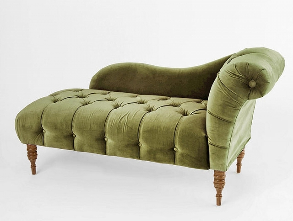 Green Chaise Lounge Chairs Throughout Preferred Green Chaise Lounge Edie Velvet Victorian Indoor Of With Pictures (View 4 of 15)