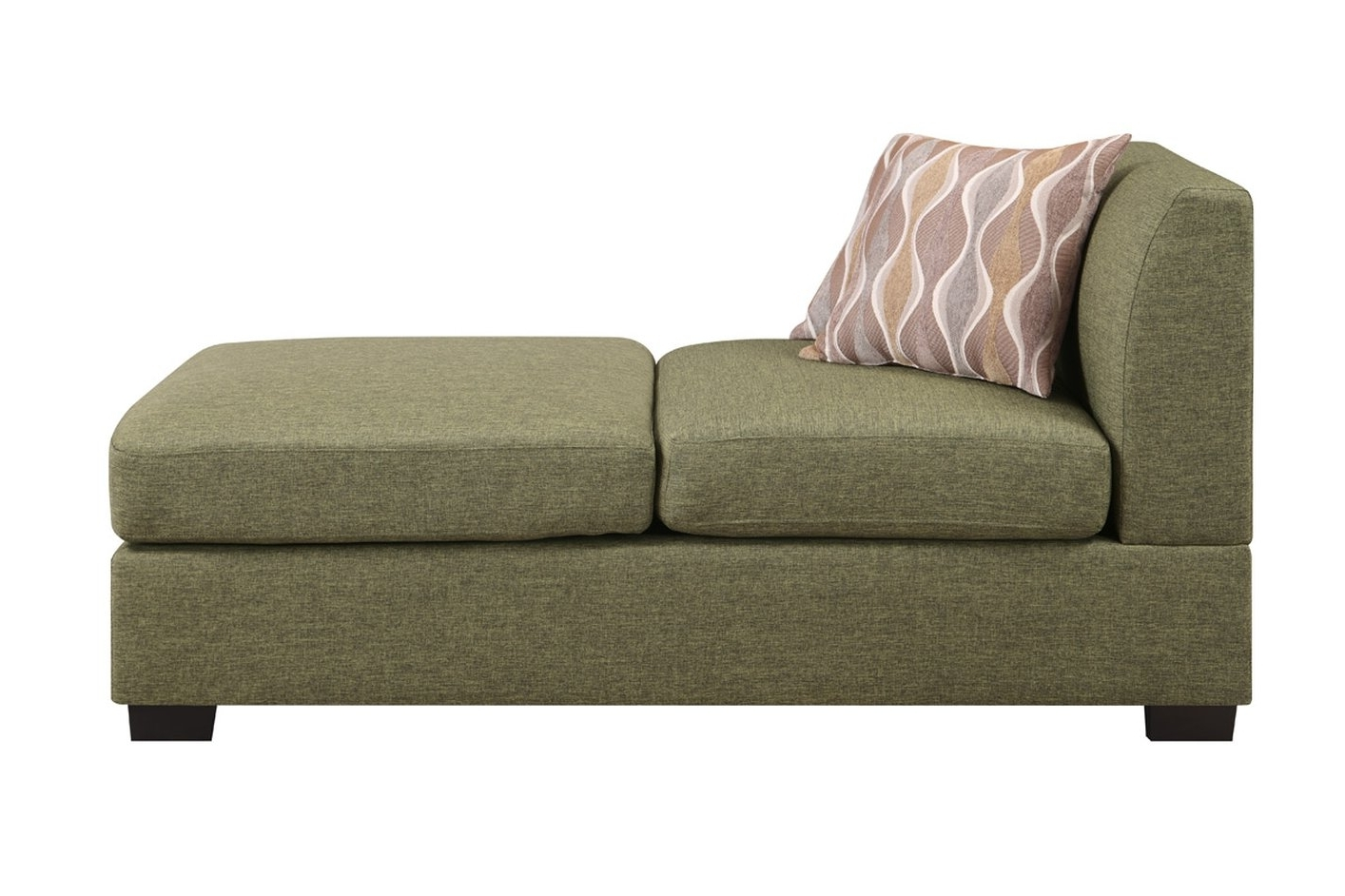 Green Chaise Lounges With Most Popular Green Fabric Chaise Lounge – Steal A Sofa Furniture Outlet Los (View 10 of 15)