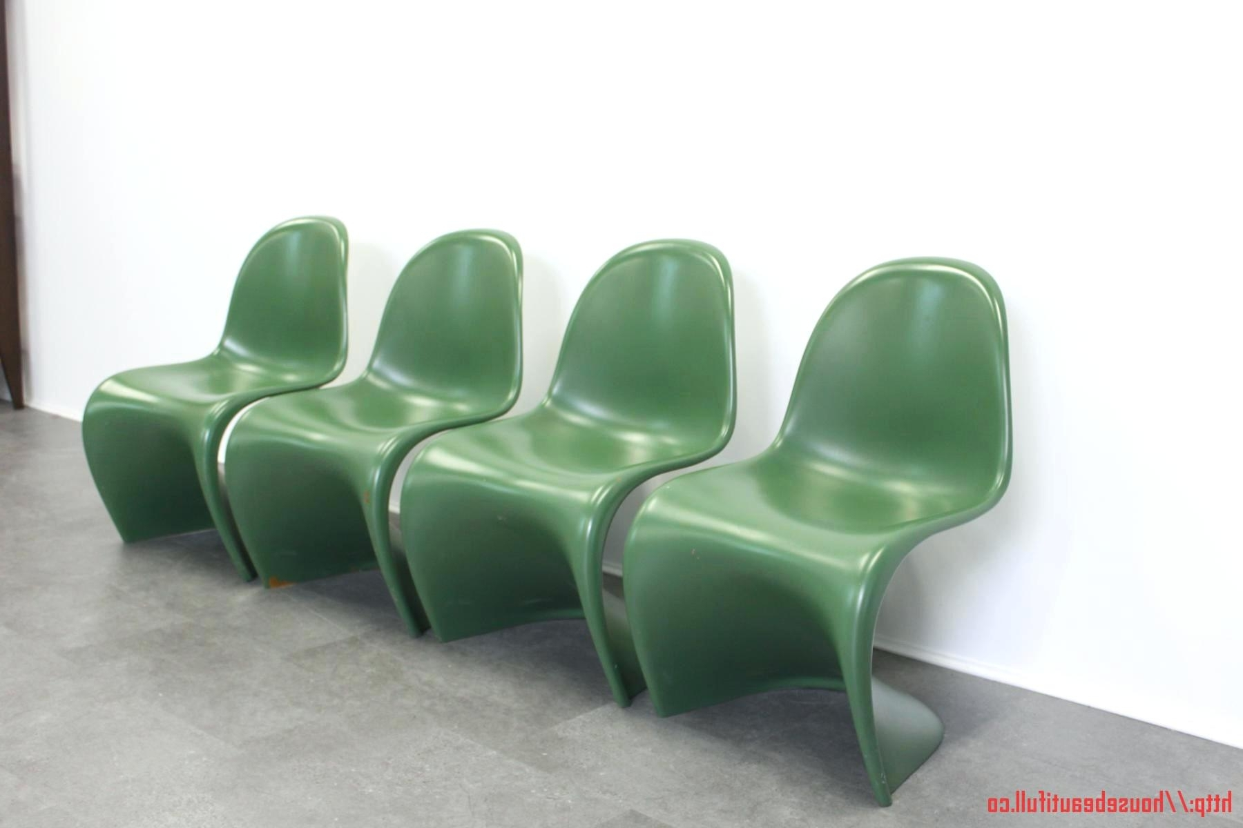 Green Chaises With Trendy Design D'intérieur ~ Chaises Panton Occasion Set De 5 Miniatures (View 4 of 15)