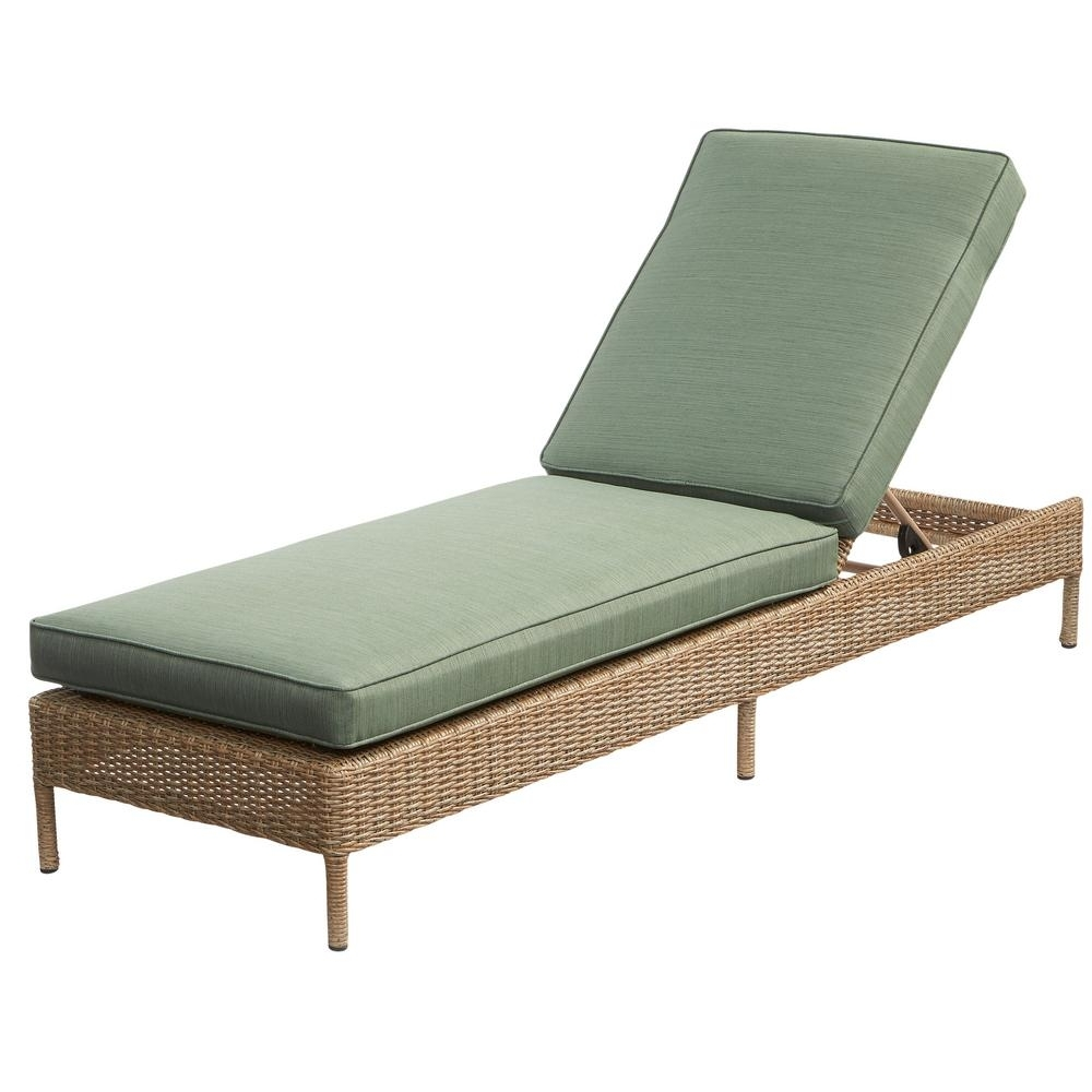 Green – Outdoor Chaise Lounges – Patio Chairs – The Home Depot In Recent Chaise Lounge Chair Outdoor Cushions (View 6 of 15)