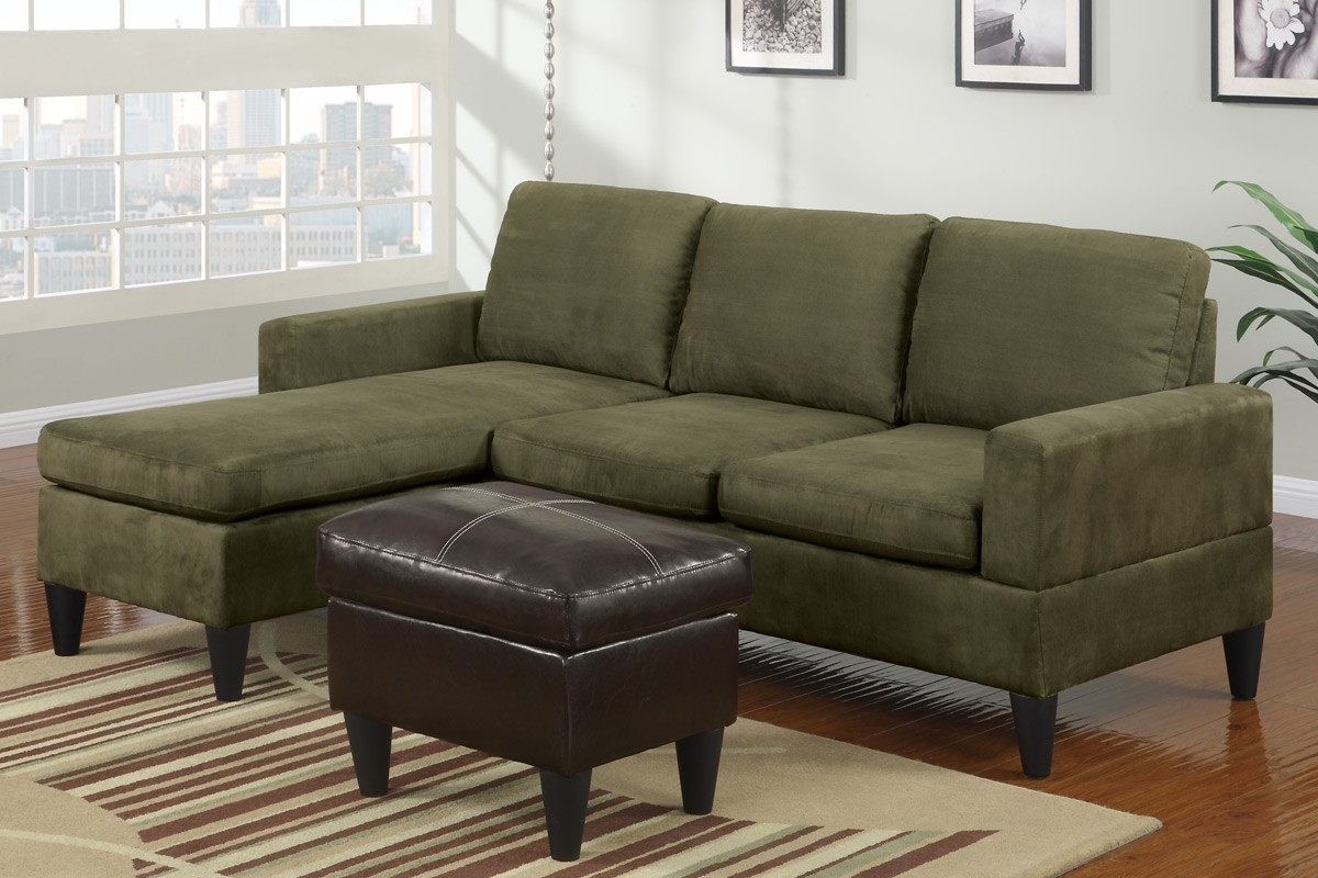 Green Sectional Sofas In Popular Perfect Green Sectional Sofa With Chaise 29 On Black Suede (View 7 of 15)