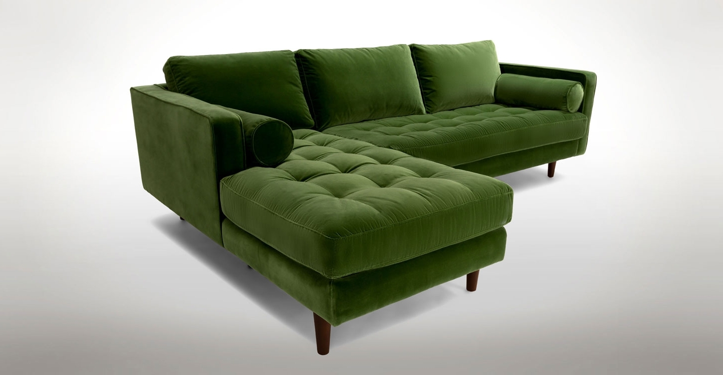 Green Sectional Sofas With Chaise Intended For Most Recent Sectional Sofa (View 6 of 15)