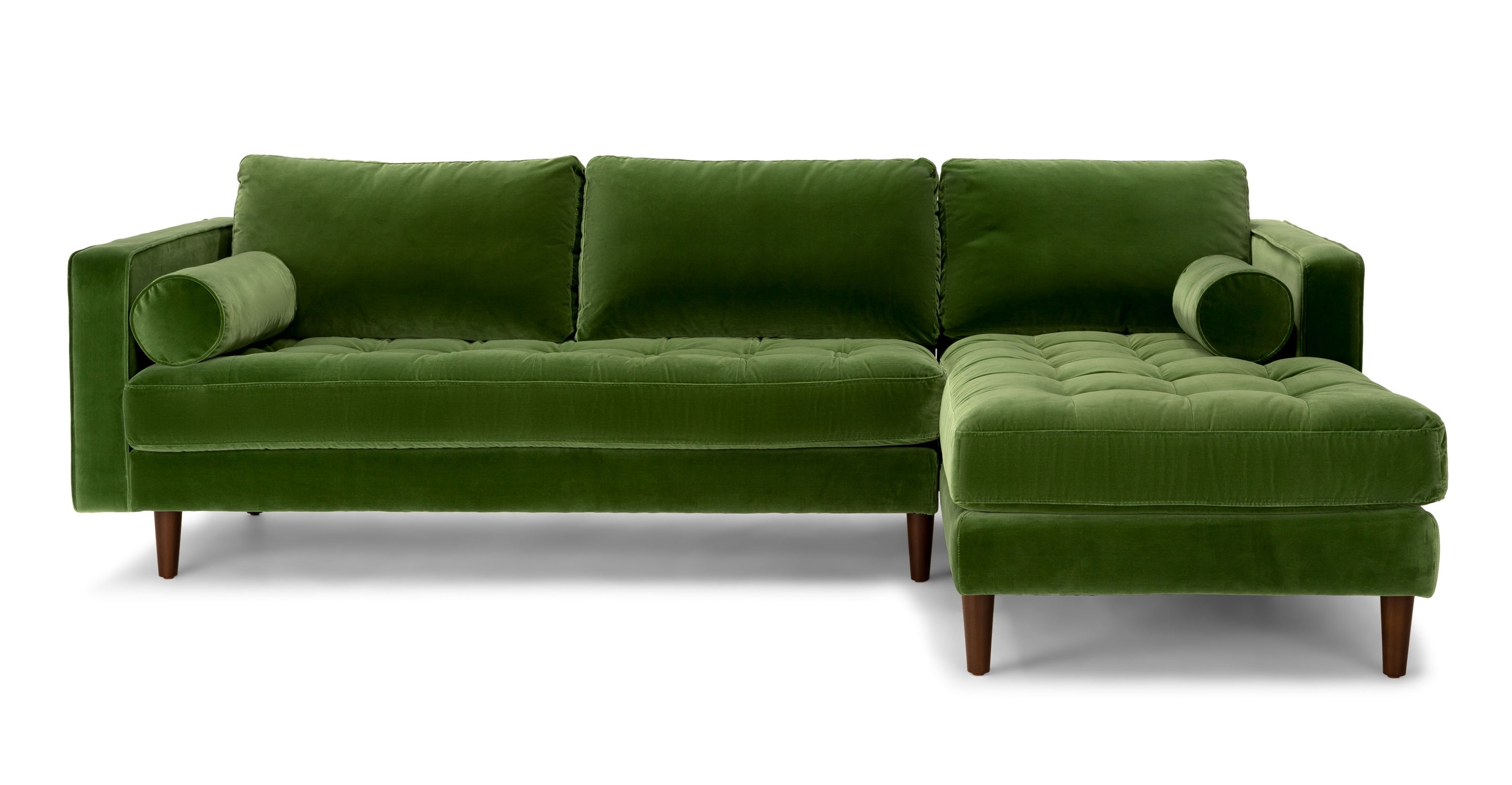 Green Sectional Sofas With Regard To Widely Used Olive Green Chenille Fabrical Sofa Seafoam Emerald Leather Sage (View 2 of 15)