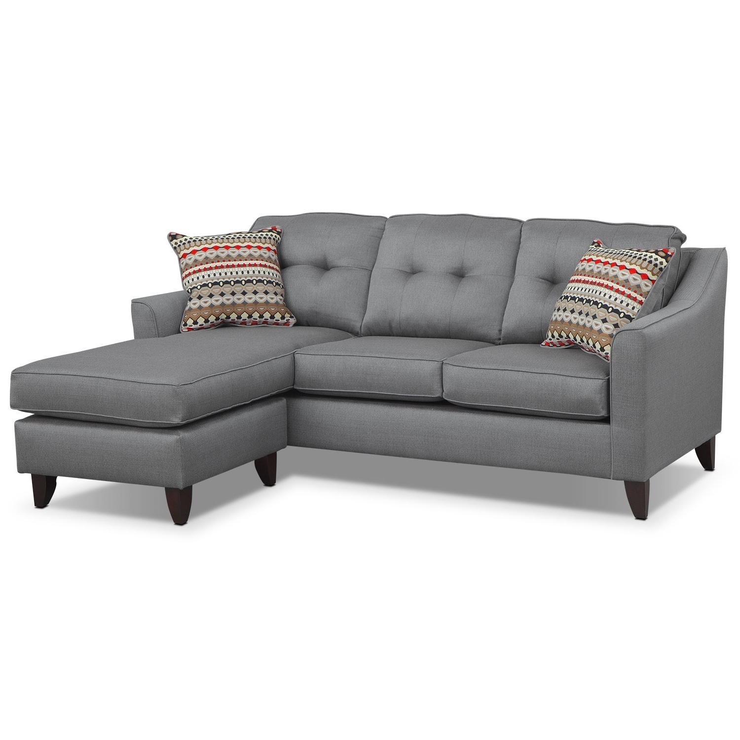 Grey Chaise Sofas For Most Recent Sofa Design Ideas: Dark Couch Grey Sofa Chaise Light Design Light (View 9 of 15)