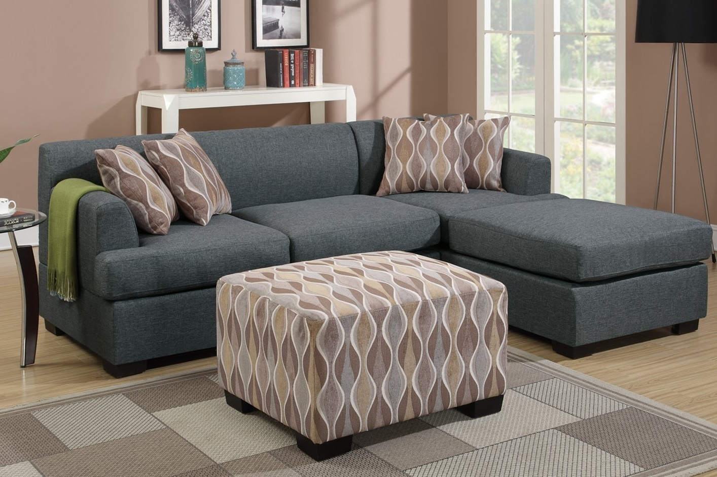Grey Fabric Chaise Lounge – Steal A Sofa Furniture Outlet Los With Regard To Newest Fabric Chaise Lounges (View 11 of 15)