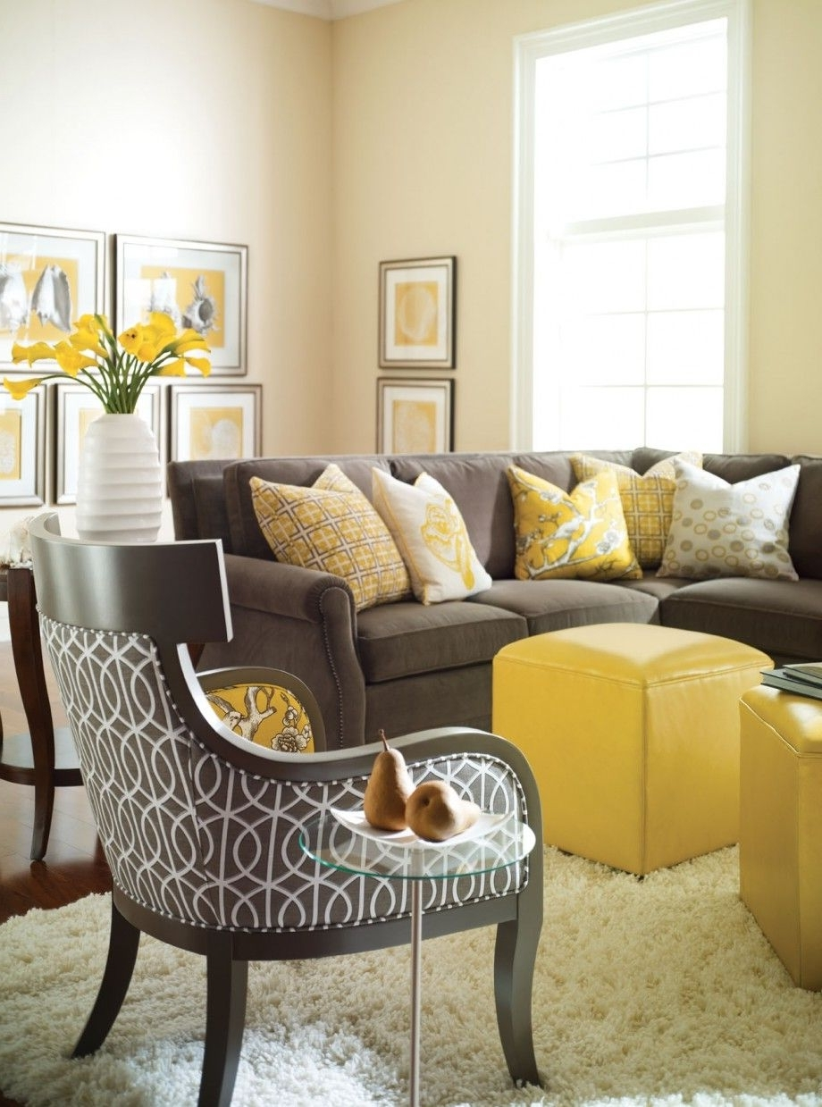 Grey Room, Gray And Room Within Current Yellow Sofa Chairs (View 6 of 15)