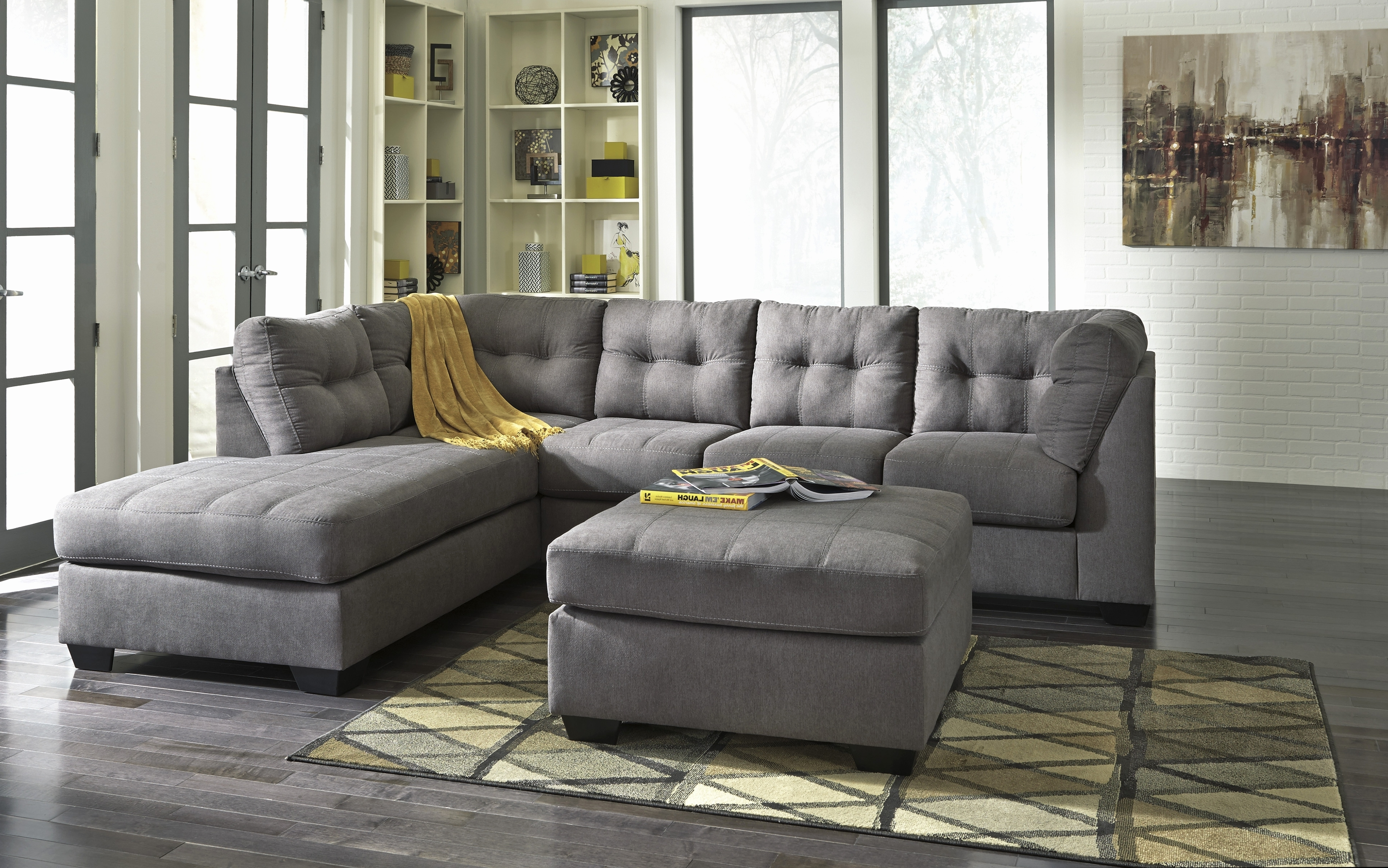 Grey Sectional Sofa Ashley Furniture 1025Theparty Com With Sofas In 2017 Sectional Sofas At Ashley Furniture (View 5 of 15)