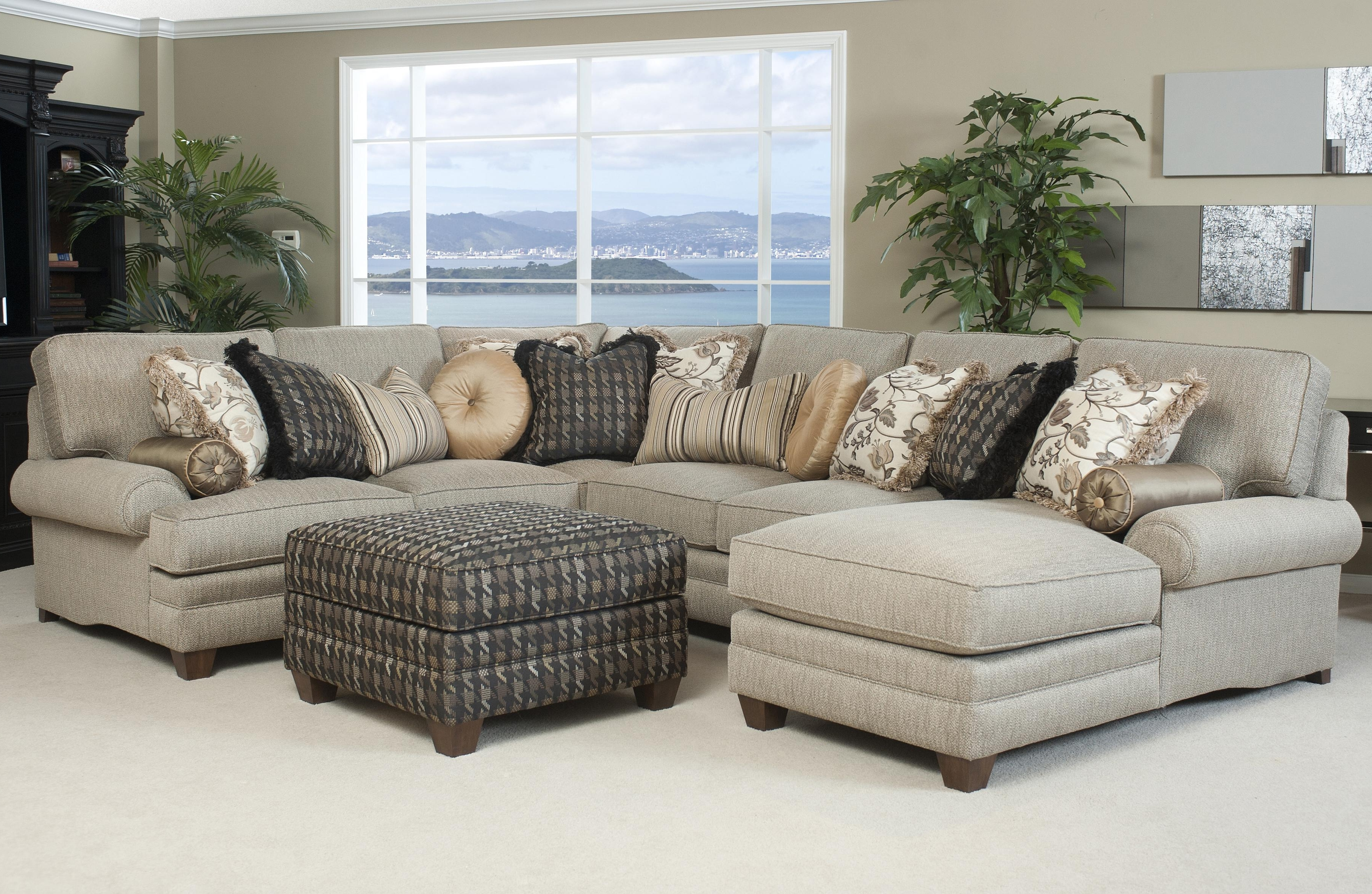 Grey Sectionals Microfiber Small Inspirations With Sectional Sofa Inside Fashionable Cozy Sectional Sofas (Gallery 6 of 15)