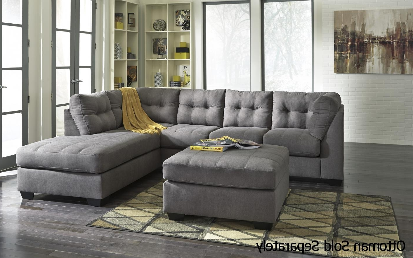 Grey Sofa Chairs Inside Popular Grey Fabric Sectional Sofa – Steal A Sofa Furniture Outlet Los (View 6 of 15)