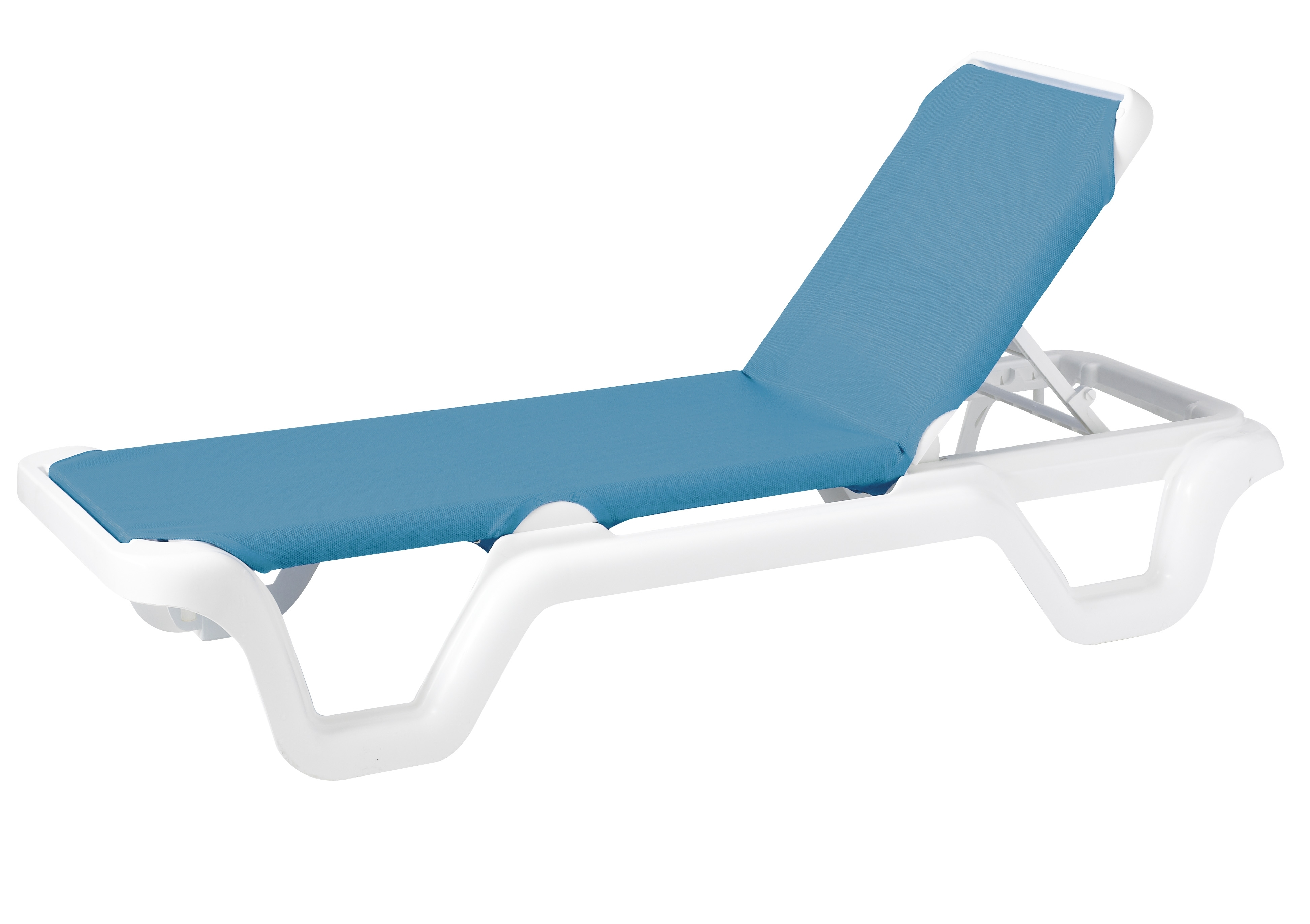 Grosfillex Marina Style Resin Sling Chaise Lounge Chair W/o Arms Pertaining To Most Recently Released Chaise Lounge Chairs Without Arms (View 11 of 15)