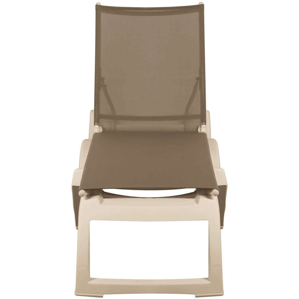 Grosfillex Us366181 / Us636181 Calypso Sandstone / Taupe Stacking For Popular Grosfillex Chaise Lounge Chairs (View 6 of 15)