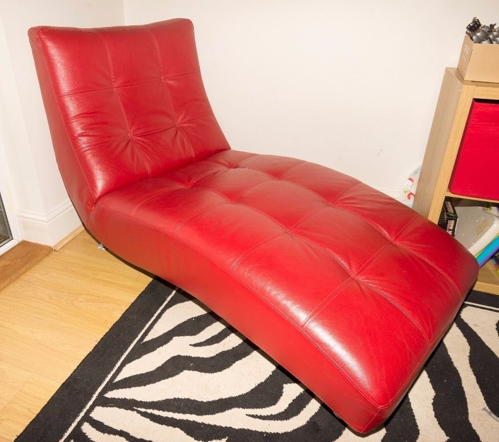 Gumtree Pertaining To Red Leather Chaises (View 5 of 15)