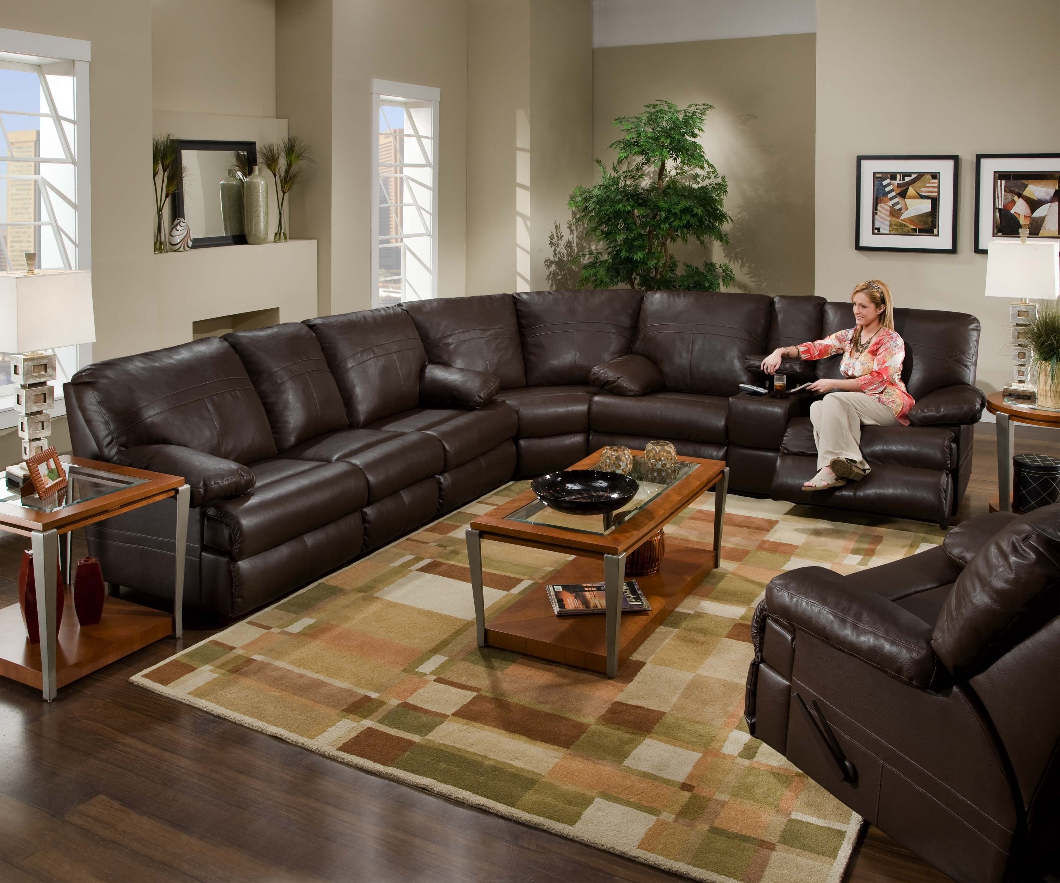 Halifax Sectional Sofas Inside Famous Sectional Leather Couch With Recliners. (View 7 of 15)
