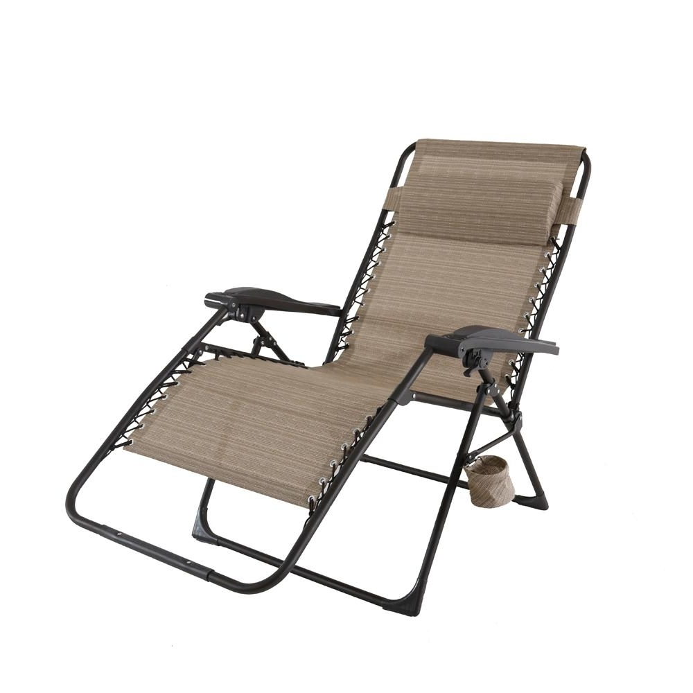 Hampton Bay Chaise Lounge Chairs Within Famous Hampton Bay Mix And Match Oversized Zero Gravity Sling Outdoor (View 14 of 15)