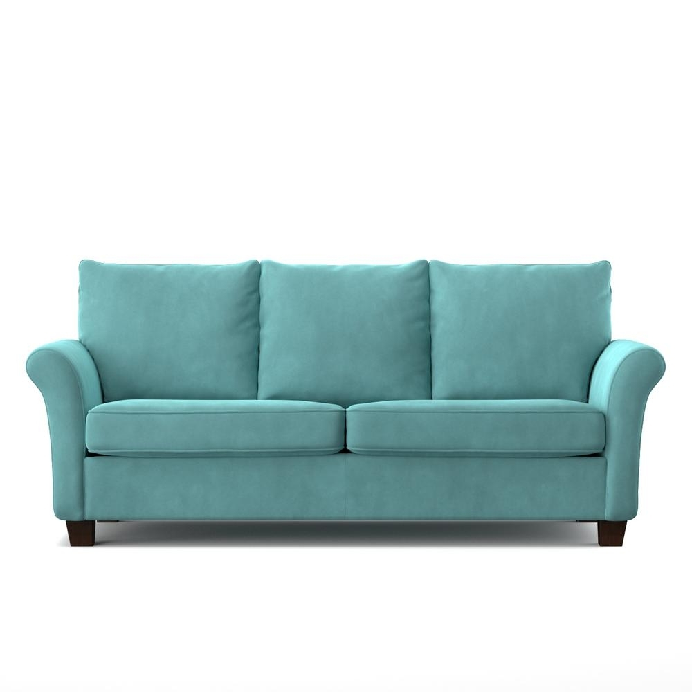 Handy Living Rockford Sofast Sofa In Blue Turquoise Velvet Rkf Sx For Most Up To Date Turquoise Sofas (View 7 of 15)